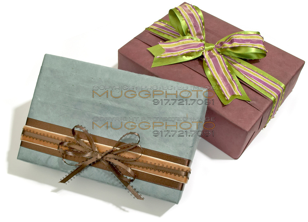 two decorative gift boxes