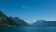Lucerne, SWITZERLAND<br /> <br /> A general view of the mountains surrounding Lake Lucerne, Day trip on Lake.<br /> <br /> Wednesday  <br />  <br />   25.05.2017<br /> <br /> <br /> © Peter SPURRIER<br /> <br /> Panasonic  DMC-LX100  f13  1/400sec  35mm  5.5MB