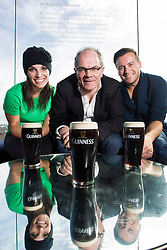 Jennifer Sokolski from Boston and Justin Peebles from New York are pictured with Fergal Murray, Guinness Master Brewer (Centre)