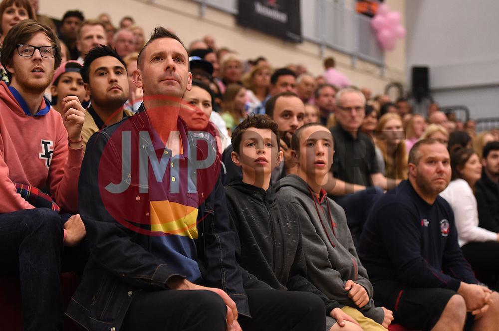Fans  - Photo mandatory by-line: Joe Meredith/JMP - Mobile: 07966 386802 - 10/10/2015 - BASKETBALL - SGS Wise Arena - Bristol, England - Bristol Flyers v Newcastle Eagles - British Basketball League