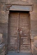 Egypt. Cairo : EL GOULSHANI- tekyah mausoleum  in ruins  Ahmad MAHIR street,   in old islamic Cairo  Cairo -  NM401.. view from the SULTAN AL Muyyad - Mu'ayyad  mosque +