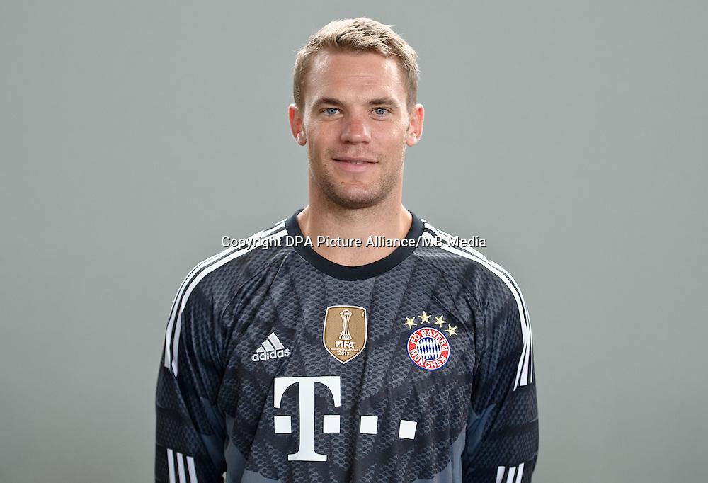 German Soccer Bundesliga - Photocall FC Bayern Munich in Munich on August 9, 2014: Goalkeeper Manuel Neuer.