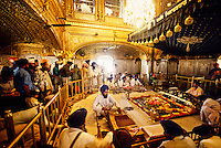 The interior of the Golden Temple (holiest Sikh shrine), Amritsar, Punjab, India
