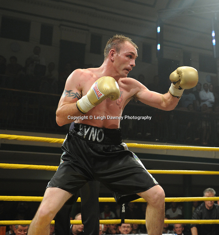 Yassine El Maachi defeats Colin Lynes (pictured) in the semi final at Prizefighter Welterweights II,York Hall, Bethnal Green ,London. 07.06.11. Matchroom Sport/Prizefighter.Photo credit: Leigh Dawney 2011
