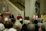 WASHINGTON, DC (March 10, 2010) -- Women Airforce Service Pilots (WASP) were the first women to fly military aircraft during World War II and they received the Congressional Gold Medal, the highest civilian honor given by Congress, in a ceremony on Capitol Hill.   About 200 women who served as WASPs were on hand to receive the award. Now mostly in their late 80s and early 90s, some came in wheelchairs, many sported dark blue uniforms, to the 1,102 pilots who served as Women Airforce Service Pilots during World War II, the surviving women pilots attended the ceremonies with family and friends, and family members represented other pilots.  Photo by Johnny Bivera