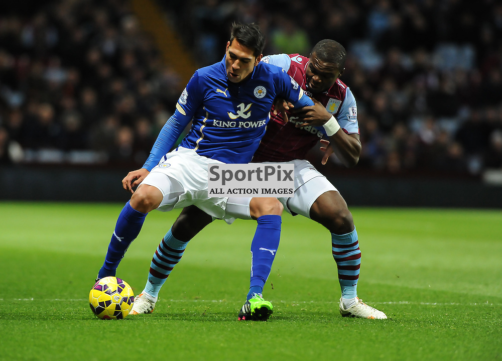 Leonardo Ulloa shileds the ball under pressure (c) Simon Kimber | SportPix.org.uk