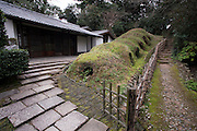 Nakazato Taroemon kiln (3-6-29 Machida, Karatsu; +81-955-72-8171), located a five minute walk from the train station. The 14th successor--in an unbroken lineage--plies his trade here along with a large staff of over twenty. Situated within a Japanese bonsai garden, the time-honoured spot also features a small shop connected to a museum by a simple wooden bridge.