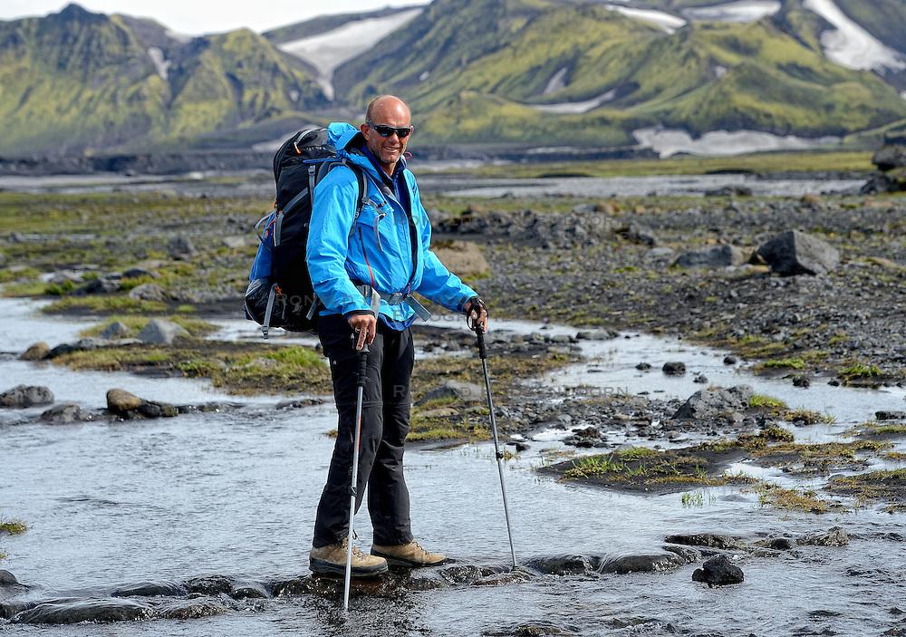 09-07-2014 ISL: Iceland Diabetes Challenge Dag 5, Emstrur<br /> Van Alftavatn naar Emstrur / Wim in t Veld