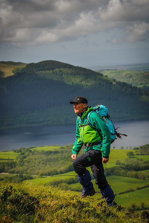 Walker (Alan Hinks)  Ullock Pike, Bassenthwaite, Lake District, Cumbria, Uk