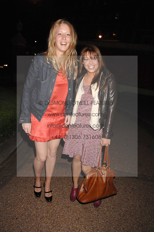 Left to right, ALICE ROTHSCHILD and WILLA KESWICK at the Quintessentially Summer Party at the Wallace Collection, Manchester Square, London on 6th June 2007.<br />