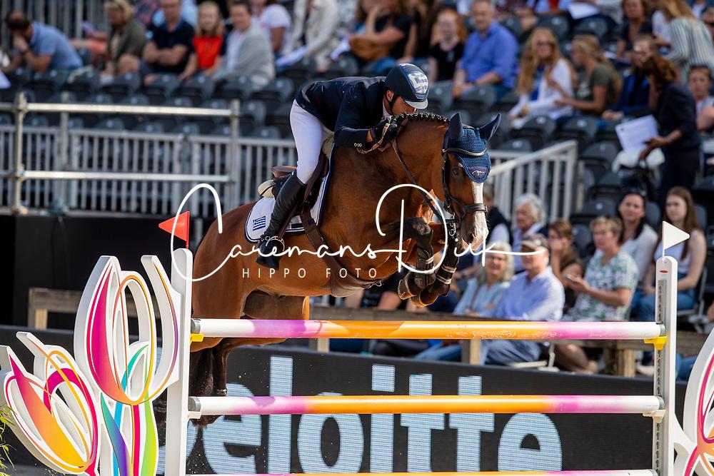 Zafiropoulos Kriton, GRE, Dicaprio<br /> European Championship Jumping<br /> Rotterdam 2019<br /> © Dirk Caremans<br /> Zafiropoulos Kriton, GRE, Dicaprio