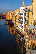 Houses on the River Onyar, Girona, Catalonia, Spain