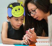 Families participate in after school activities at Tijerina Elementary School, May 17, 2016.