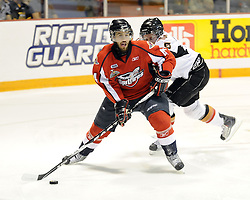 Justin Shugg of the Windsor Spitfires in Game 4 of the 2010 MasterCard Memorial Cup in Brandon, MB on Monday May 17. Photo by Aaron Bell/CHL Images