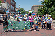 Ohio University Couseling and Psychological Services participate in the city's  first PRIDE PARADE. The parade is part of Athens Pride Fest, a  week long celebration of solidarity, diversity, unity, and activism. Photo by Ben Siegel