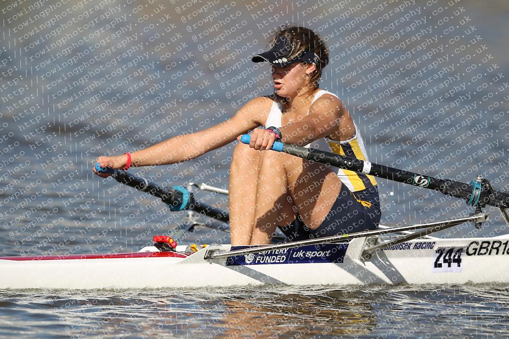 29.09.2012. Wallingford Long Distance Sculls 2012, The River Thames. Division 1. W.IM2 1x. Bath University Boat Club.