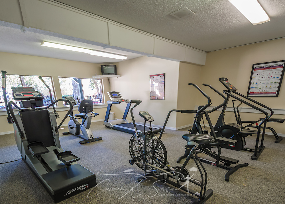 The fitness center at Autumn Woods Apartments on Foreman Road in Mobile, Alabama. The property is owned and operated by Sealy Management Co. (Photo by Carmen K. Sisson/Cloudybright)