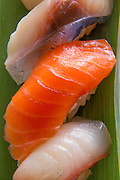 Nigiri sushi plate at Nobu Miami Beach in the famed Eden  Roc Hotel