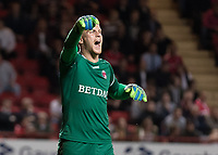 Football - 2017 / 2018 Sky Bet EFL League One - Play-Off Semi-Final, First Leg: Charlton Athletic vs. Shrewsbury Town<br /> <br /> Ben Amos (Charlton Athletic FC) shouts instructions to his defence at The Valley<br /> <br /> COLORSPORT/DANIEL BEARHAM