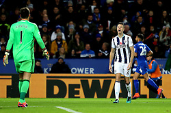 Jonny Evans of West Bromwich Albion argues with Ben Foster of West Bromwich Albion - Mandatory by-line: Robbie Stephenson/JMP - 06/11/2016 - FOOTBALL - King Power Stadium - Leicester, England - Leicester City v West Bromwich Albion - Premier League