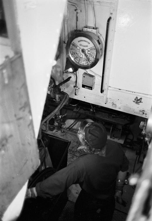 Maskinrummet på ångslupen S/S Drottningholm