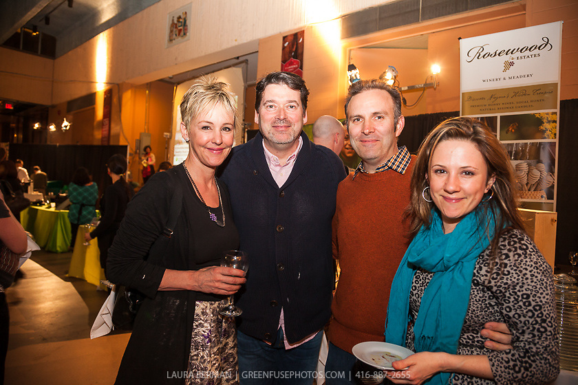 Wendy Mesley, Liam McQuade with Paul and Natasha Estey at FoodShare Toronto's Recipe for Change, February 28,  2013