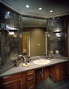 Men's master bath of the Lifestages home shot for Cooper Lighting. 1999