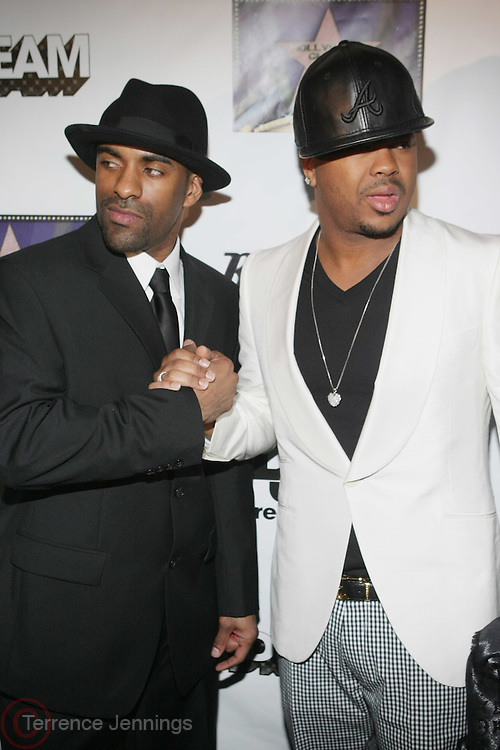 l to r: DJ Clue and The Dream at The Dream's Black Tie Album Release Party held at The Hiro Ballroom on March 11, 2008 in New York City.  ..The Dream- Platinum-selling, award-winning, R&B Recording Artist, Writer and Producer, whose sophomore album, Love vs. Money, out NOW!