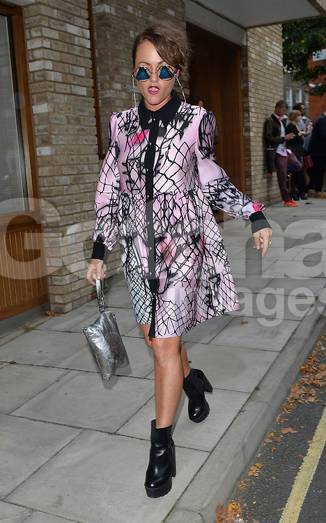 Jaime Winstone attends the GILES show during London Fashion Week Spring Summer 2015 in London, UK. 15/09/2014<br />