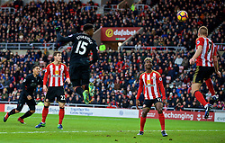 SUNDERLAND, ENGLAND - Monday, January 2, 2017: Liverpool's Daniel Sturridge scores the first goal against Sunderland during the FA Premier League match at the Stadium of Light. (Pic by David Rawcliffe/Propaganda)