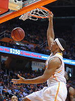 Jan 19, 2013; Knoxville, TN, USA; Tennessee Volunteers forward Jarnell Stokes (5) dunks the ball against the Mississippi State Bulldogs during the first half at Thompson-Boling Arena. Mandatory Credit: Randy Sartin-USA TODAY Sports