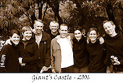 Melanie Haliburton, Barbara Freemantle, Rolf Persson, Tony Cole, Gavin Mackintosh, Rose Mackintosh, Marilyn Carliel, Stuart Carliel at Giants Castle Camp, May 2006