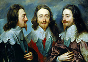 Anthony van Dyck (1599 –1641)Flemish painter. Anthony van Dyck.  Charles I, King of England, from Three Angles. 1636. Oil on canvas