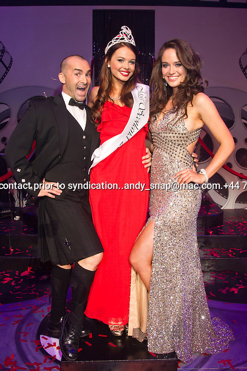 23:05:2012.Miss scotland 2012 -The Final. Nicole Treacy is Miss Scotland 2012...Nicole Treacy with Jenn and Louie.Pic:Andy Barr.07974 923919  (mobile).andy_snap@mac.com.All pictures copyright Andrew Barr Photography. .Please contact before any syndication. .