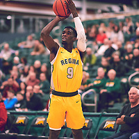 2nd year guard, Nigel Warden (9) of the Regina Cougars during the Men's Basketball Home Game on Fri Nov 30 at Centre for Kinesiology,Health and Sport. Credit: Arthur Ward/Arthur Images