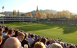 A general view of The Recreation Ground in Bath - Mandatory byline: Robbie Stephenson/JMP - 07966386802 - 31/10/2015 - RUGBY - Recreation Ground -Bath,England - Bath Rugby v Harlequins - Aviva Premiership