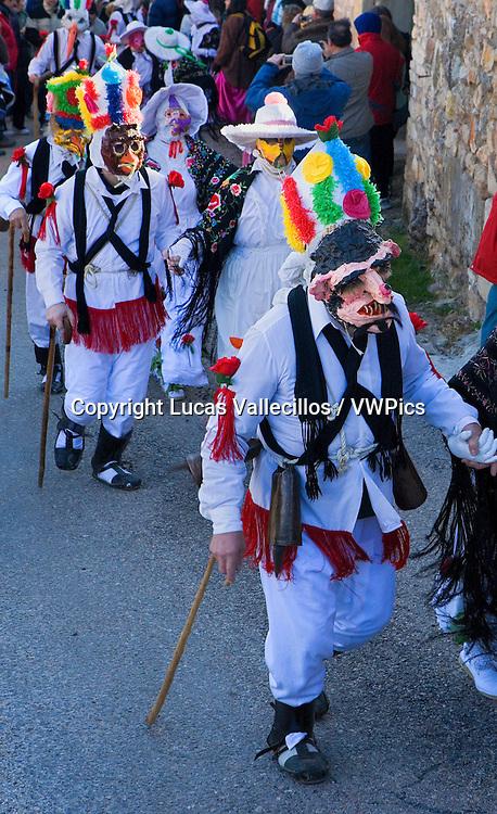 Botargas and Mascaritas. Carnival, Almiruete. Tamajon, Guadalajara province, Castilla-La Mancha, Spain