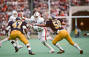 COLLEGE FOOTBALL:  Stanford vs Cal in the annual Big Game played on November 22, 1986 at Memorial Stadium in Berkeley, California.  Brad Muster #25, Stanford.   Photography by David Madison (www.davidmadison.com).