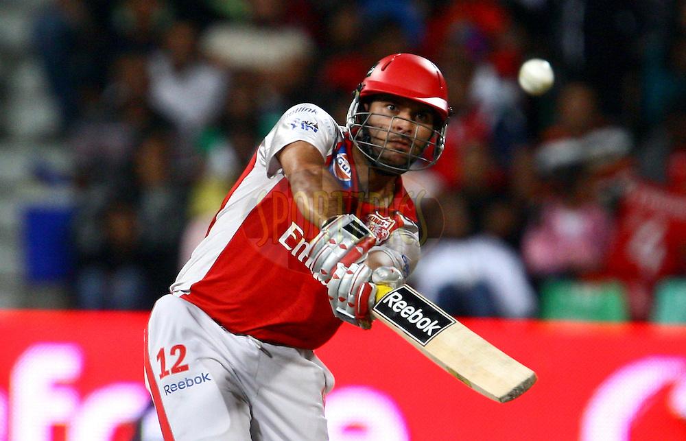 DURBAN, SOUTH AFRICA - 1 May 2009.Singh made 50 runs during the IPL Season 2 match between Kings X1 Punjab and the Royal Challengers Bangalore held at Sahara Stadium Kingsmead, Durban, South Africa..