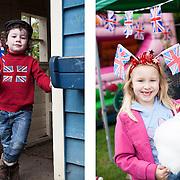 Children celebrate the Diamond Jubilee London 1st June 2012
