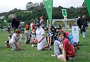 Cricket Fans at the National Bank's Cricket Super Camp , University oval, Dunedin, New Zealand. Thursday 2 February 2012 . Photo: Richard Hood photosport.co.nz