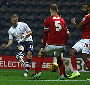 Eoin Doyle scores during the Sky Bet Championship match between Preston North End and Nottingham Forest at Deepdale, Preston, England on 3 November 2015. Photo by Pete Burns.
