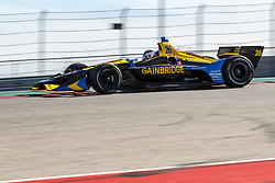 February 12, 2019 - U.S. - AUSTIN, TX - FEBRUARY 12: Zach Veach (26) in a Honda powered Dallara IR-12 at turn 1 during the IndyCar Spring Training held February 11-13, 2019 at Circuit of the Americas in Austin, TX. (Photo by Allan Hamilton/Icon Sportswire) (Credit Image: © Allan Hamilton/Icon SMI via ZUMA Press)