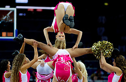 Cheerleaders Klaipeda University during basketball game between National basketball teams of F.Y.R. of Macedonia and Russia of 3rd place game of FIBA Europe Eurobasket Lithuania 2011, on September 18, 2011, in Arena Zalgirio, Kaunas, Lithuania. Russia defeated Macedonia 72-68 and won bronze medal. (Photo by Vid Ponikvar / Sportida)