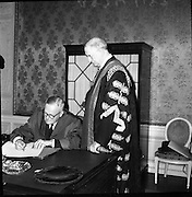 Conferring of Honorary Degrees by the National University at Iveagh House Dublin 13th july 1961