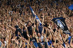 September 14, 2017 - Reggio Emilia, Italy - Atalanta supporters celebrating during the UEFA Europa League group E match between Atalanta and Everton FC at Stadio Citta del Tricolore on September 14, 2017 in Reggio nell'Emilia, Italy. (Credit Image: © Matteo Ciambelli/NurPhoto via ZUMA Press)