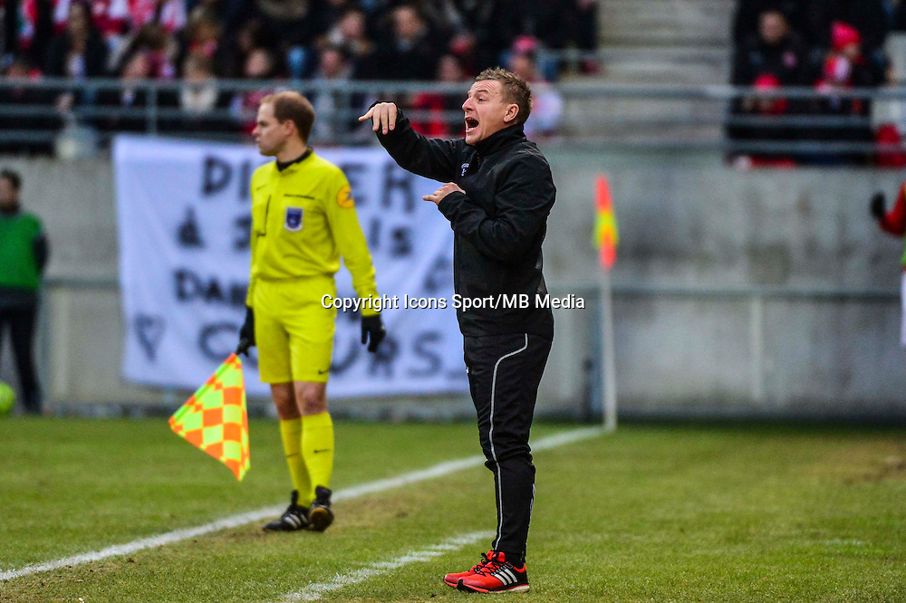 Olivier GUEGAN - 25.01.2015 - Reims / Lens  - 22eme journee de Ligue1<br /> Photo : Dave Winter / Icon Sport *** Local Caption ***