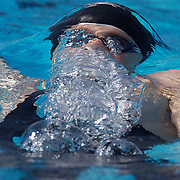 Karl Burdis, Ireland, in action during the Men's 200m Backstroke heats at the World Swimming Championships in Rome on Thursday, July 30, 2009. Photo Tim Clayton.