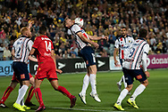 GOSFORD, AUSTRALIA - OCTOBER 02: Central Coast Mariners forward Matthew Simon (19) controls the ball during the FFA Cup Semi-final football match between Central Coast Mariners and Adelaide United on October 02, 2019 at Central Coast Stadium in Gosford, Australia. (Photo by Speed Media/Icon Sportswire)