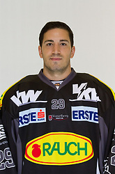 29.08.2012, Messestadion, Dornbirn, AUT, EBEL, Spielerportraits, Dornbirner Eishockey Club, im Bild Luciano Aquino, (Dornbirner Eishockey Club, #29)// during Dornbirner Eishockey Club Player Portrait Session at the Messestadion, Dornbirn, Austria on 2012/08/29, EXPA Pictures © 2012, PhotoCredit: EXPA/ Peter Rinderer